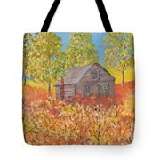 An Old Abandoned Tenant House Tote Bag