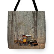 An Old Truck In The Woods. Tote Bag
