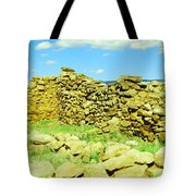 An Old Wall At The Pecos Ruins Tote Bag