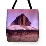 An Old Weathered Barn  Tote Bag