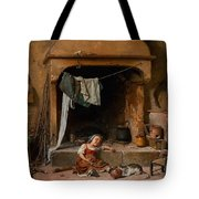 An Opportune Moment Girl Tote Bag