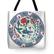 An Ottoman Iznik Style Floral Design Pottery Polychrome, By Adam Asar, No 1 Tote Bag