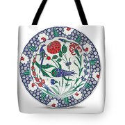 An Ottoman Iznik Style Floral Design Pottery Polychrome, By Adam Asar, No 1 Tote Bag