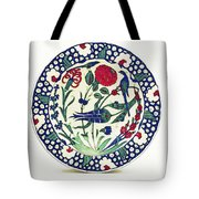 An Ottoman Iznik Style Floral Design Pottery Polychrome, By Adam Asar, No 1a Tote Bag