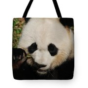 An Up Close Look At A Giant Panda Bear Tote Bag