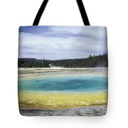 An Upper Geyser Basin At Chromatic Tote Bag