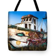 An Wooden Old Ship 2 Tote Bag