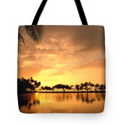 Anaehoomalu Bay Sunset Tote Bag