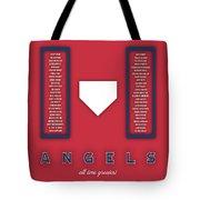 Anaheim Angels Art - Mlb Baseball Wall Print Tote Bag
