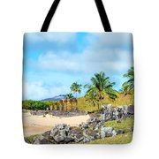 Anakena At Easter Island Tote Bag