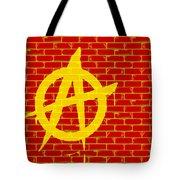 Anarchy Graffiti Red Brick Wall Tote Bag