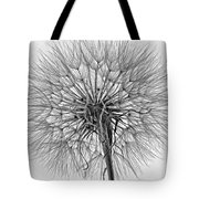 Anatomy Of A Weed Monochrome Tote Bag