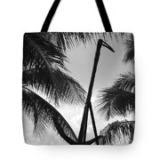 Anchor In Black And White Tote Bag