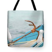 Anchor On A Boat In Maldives Tote Bag