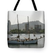 Anchored Sailboat Tote Bag