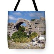 Ancient Bergama Acropolis Ruins Tote Bag