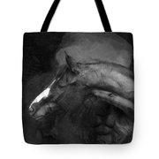 Ancient Black Horse No 1 Tote Bag