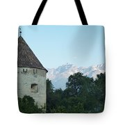Ancient Building And Mountains Tote Bag