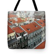 Ancient Buildings At Lisbon. Portugal Tote Bag