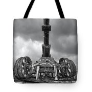 Ancient Cannon In Black And White Tote Bag