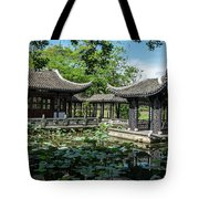 Ancient Chinese Architecture Tote Bag