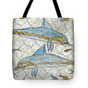 Ancient Greek Dolphins Tote Bag