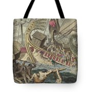Ancient Greek Sea Battle Tote Bag