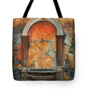 Ancient Italian Fountain Tote Bag