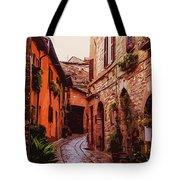Ancient Italian Village Tote Bag