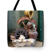 Model Of Ancient Water Mill In Greece  Tote Bag
