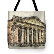 Ancient Pantheon Tote Bag