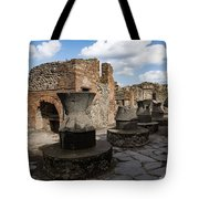 Ancient Pompeii - Bakery Of Modestus Millstones And Bread Oven Tote Bag