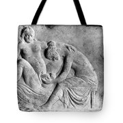 Ancient Roman Relief Carving Of Midwife Tote Bag