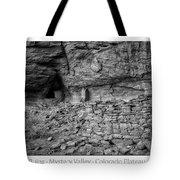 Ancient Ruins Mystery Valley Colorado Plateau Arizona 02 Bw Text Tote Bag