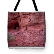 Ancient Ruins Mystery Valley Colorado Plateau Arizona 02 Text Tote Bag