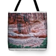 Ancient Ruins Mystery Valley Colorado Plateau Arizona 03 Text Tote Bag