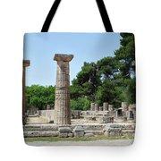 Ancient Ruins Wide Columns Tote Bag