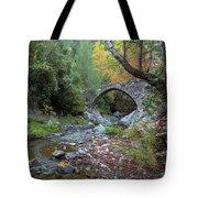 Ancient Stone Bridge Of Elia, Cyprus Tote Bag