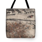 Ancient Town River Paintingancient Town River Painting Tote Bag