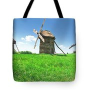 Ancient Windmills In Field Tote Bag