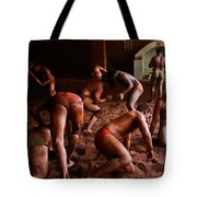 ancient wrestlers of India Tote Bag