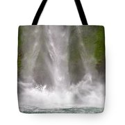 And Down Comes The Water Tote Bag