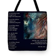 And She Cried - Poetry In Art Tote Bag