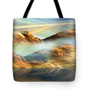And The Light Shines On And On And On... Tote Bag