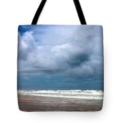 And The Sea Foam Rolls In Tote Bag