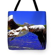 And The Seagull Follows Pelican Tote Bag