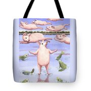 And Walk On Water Tote Bag