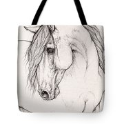 Andalusian Horse Portrait 2015 12 08 Tote Bag