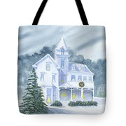 Anderson Mansion Christmas Tote Bag
