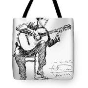 Andres Segovia Tote Bag